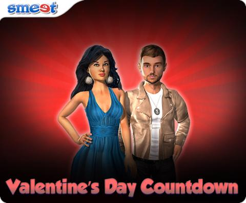 Smeet Valentines Day Countdown Chat Game