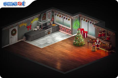 Smeet Room Christmas Living Chat Game