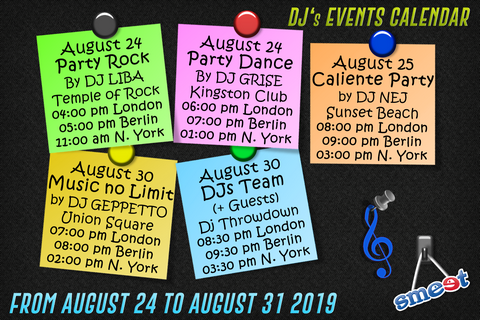EN Events Schedule 24th August
