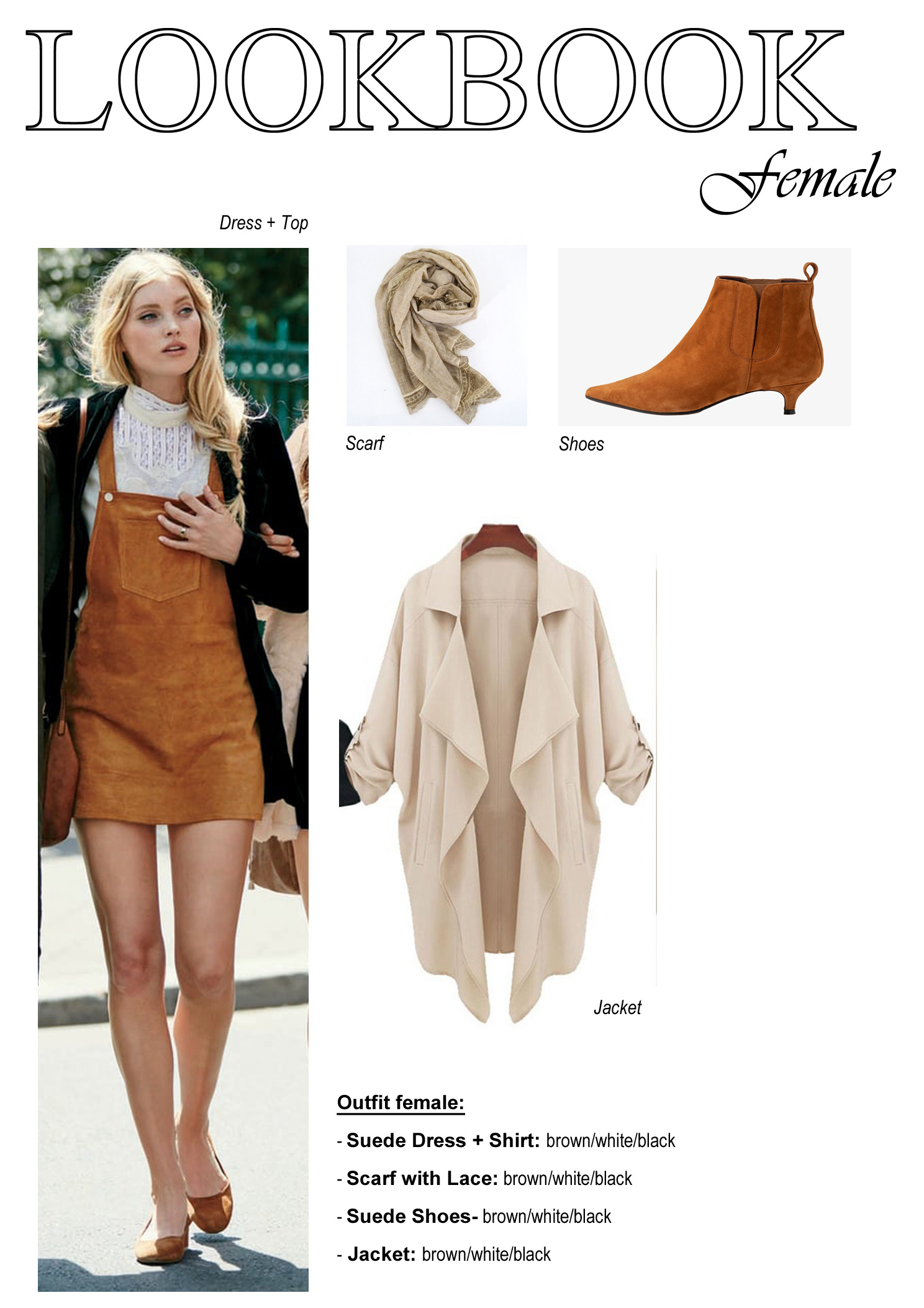 Female Outfit Look Book Example