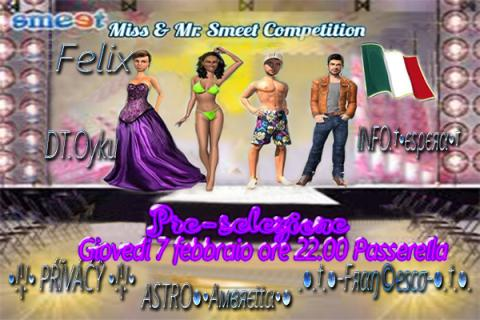 Preselezione Mr e Miss Smeet 2019 !!