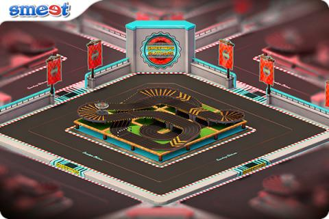 Smeet Room Slot Car Racing Chat Game