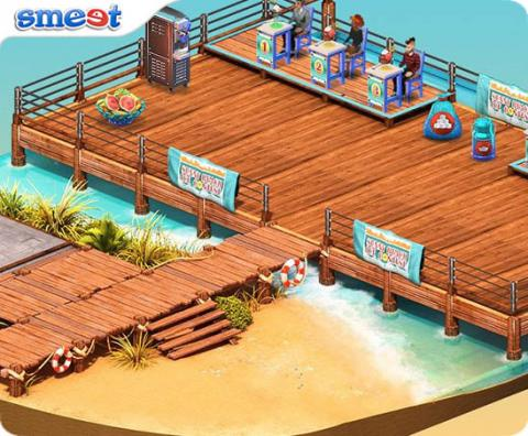 Smeet Sunny Beach Ice Cream Contest Room Chat Game