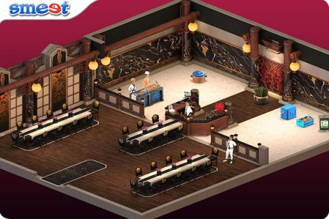 Smeet Room Master Yukihiras Sushi Restaurant Chat Game