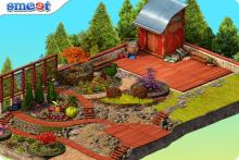 Smeet Room Flower Garden Online Chat Game